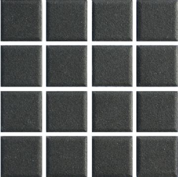 Waxman CU-117 Unglazed Black - Ceramic Pool Tiles - 10 Sheet Pack